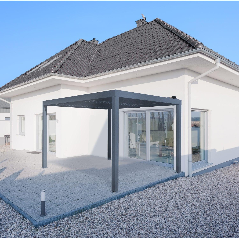 pergola autoportante aluminium plus de 12 m leroy merlin. Black Bedroom Furniture Sets. Home Design Ideas
