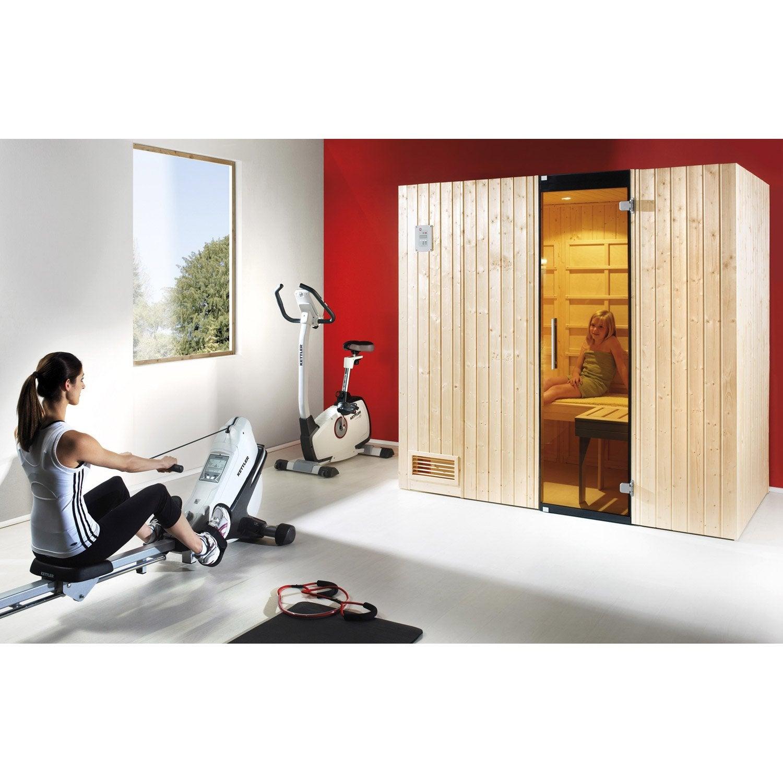 cabine infrarouge 2 places mod le classic couchette weka. Black Bedroom Furniture Sets. Home Design Ideas