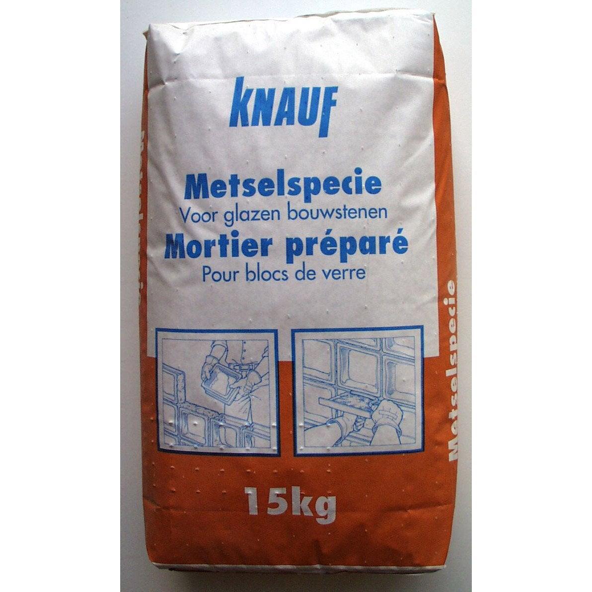 Colle en poudre pour brique de verre knauf gris 15kg - Enlever colle sur verre ...