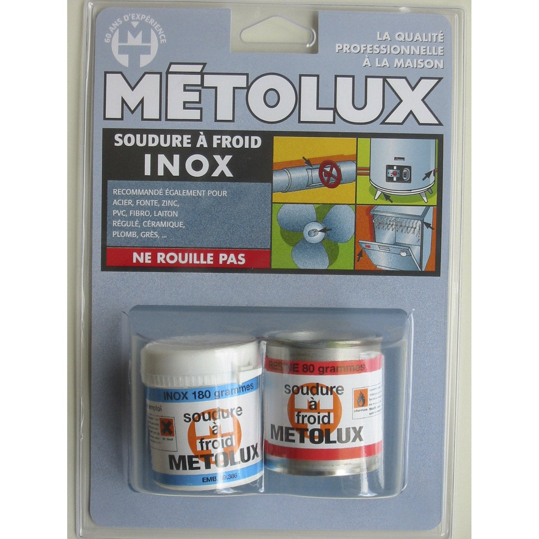 Soudure froid sp cial inox metolux leroy merlin - Produit pour nettoyer l inox ...