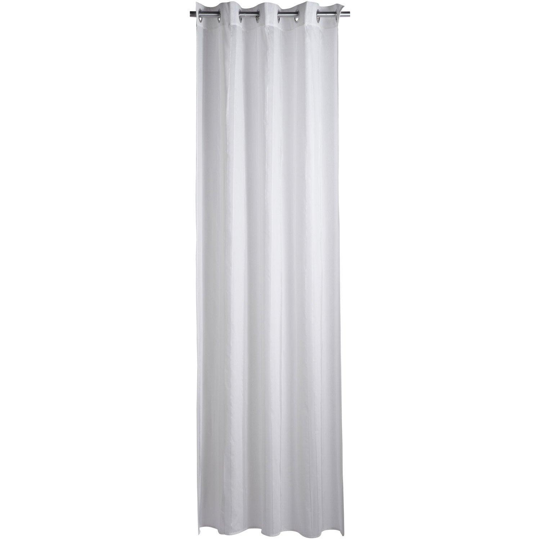 Voilage luce blanc 140 x 240 cm leroy merlin for Placchette luce leroy merlin