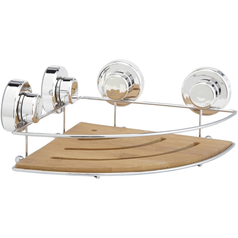 etag re de bain douche d 39 angle ventouser naturel. Black Bedroom Furniture Sets. Home Design Ideas