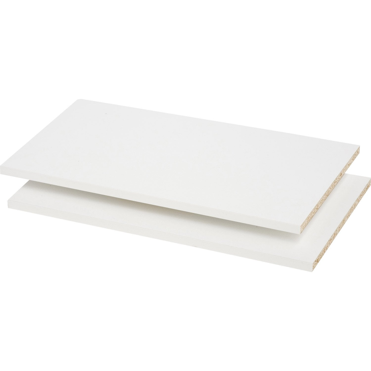 Lot de 2 tablettes spaceo interior blanc l60x p32 cm ep for Tablette spaceo leroy merlin