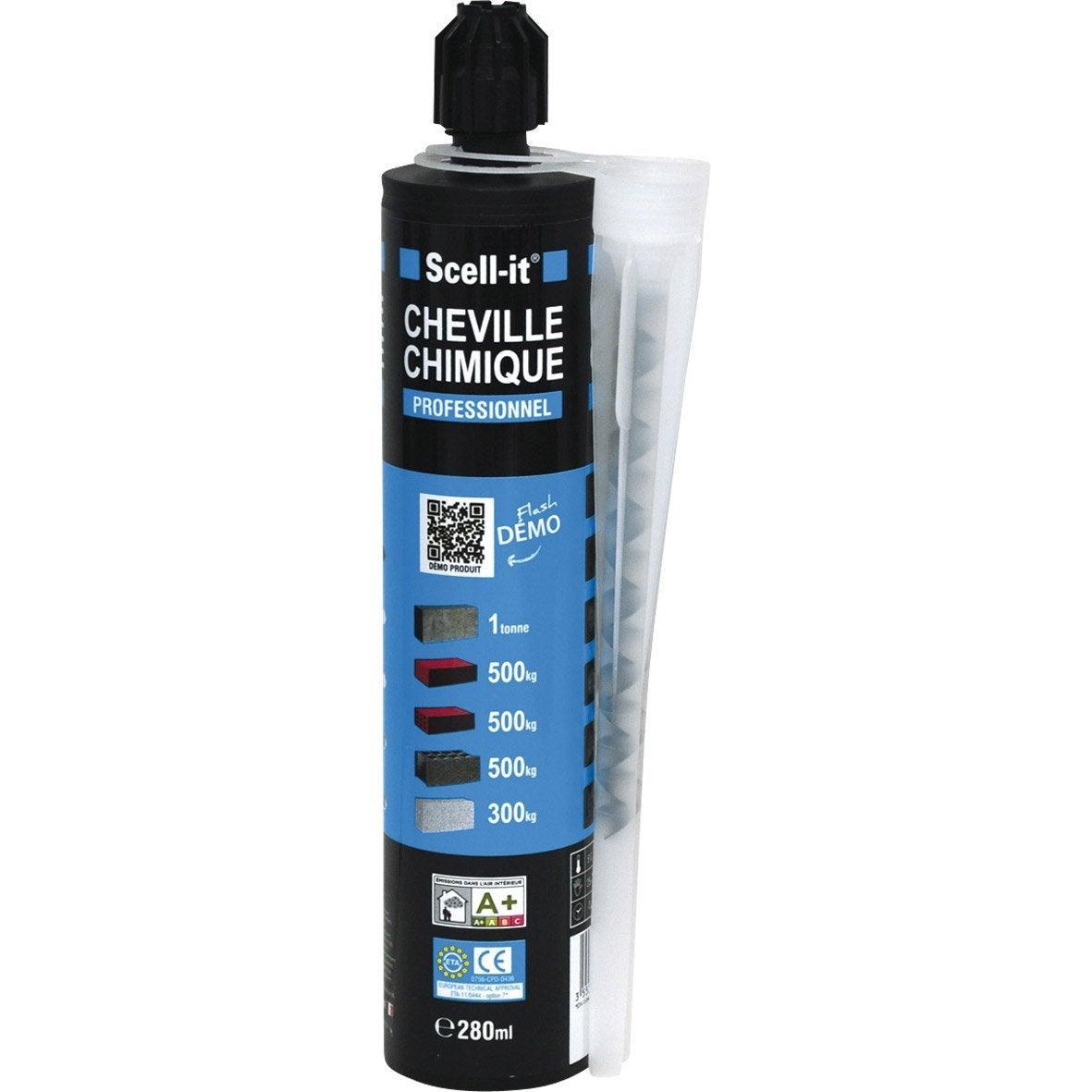 Cartouche de scellement chimique 280 ml avec accessoires - Cartouche scellement chimique ...