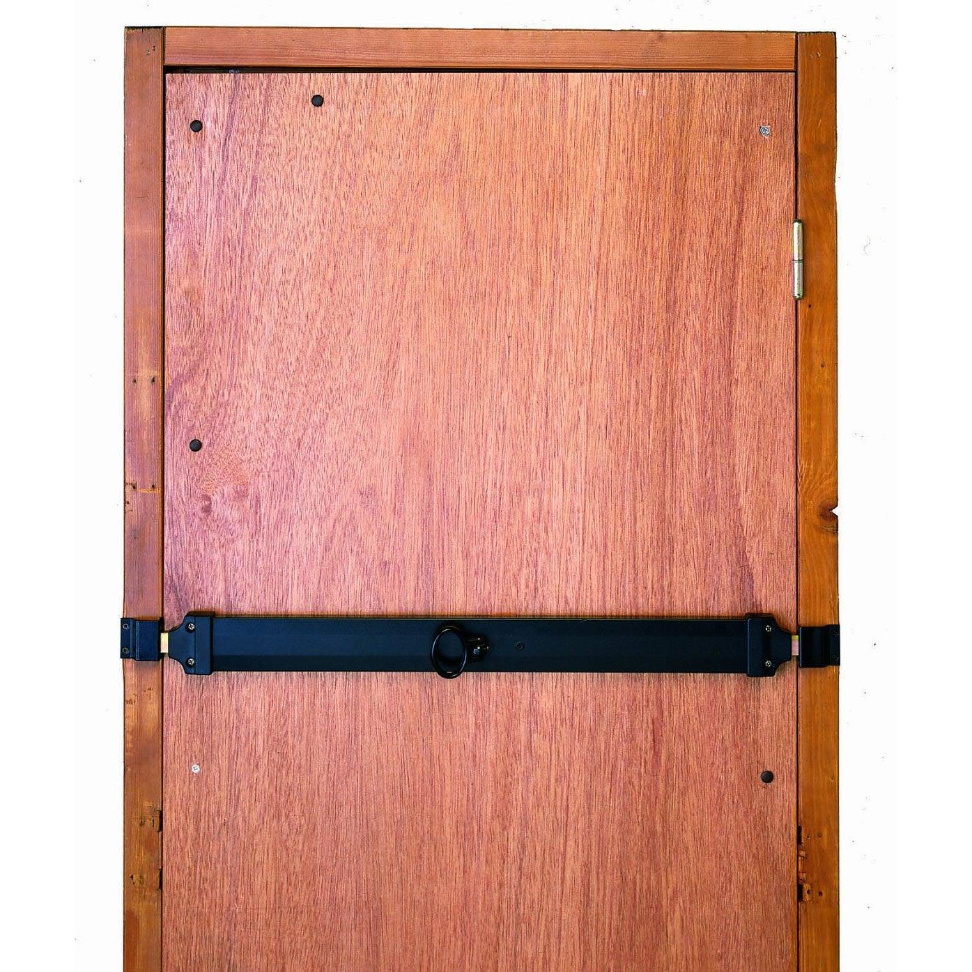 Barre de s curit noire pour porte de service 73 cm for Porte de service pvc 73 cm