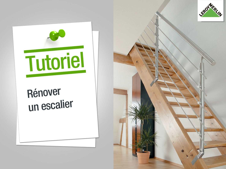 Idee Renovation Escalier Bois comment rénover un escalier ?   leroy merlin