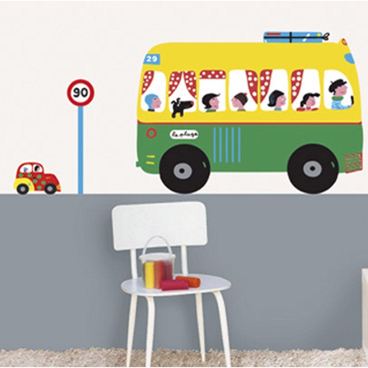 sticker voitures 49 cm x 69 cm leroy merlin. Black Bedroom Furniture Sets. Home Design Ideas