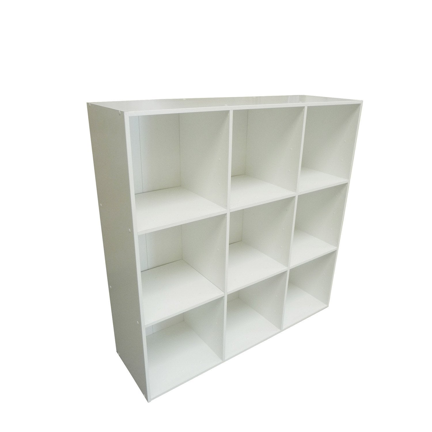 Etag re 9 cases multikaz blanc x x for Etagere murale avec rebord