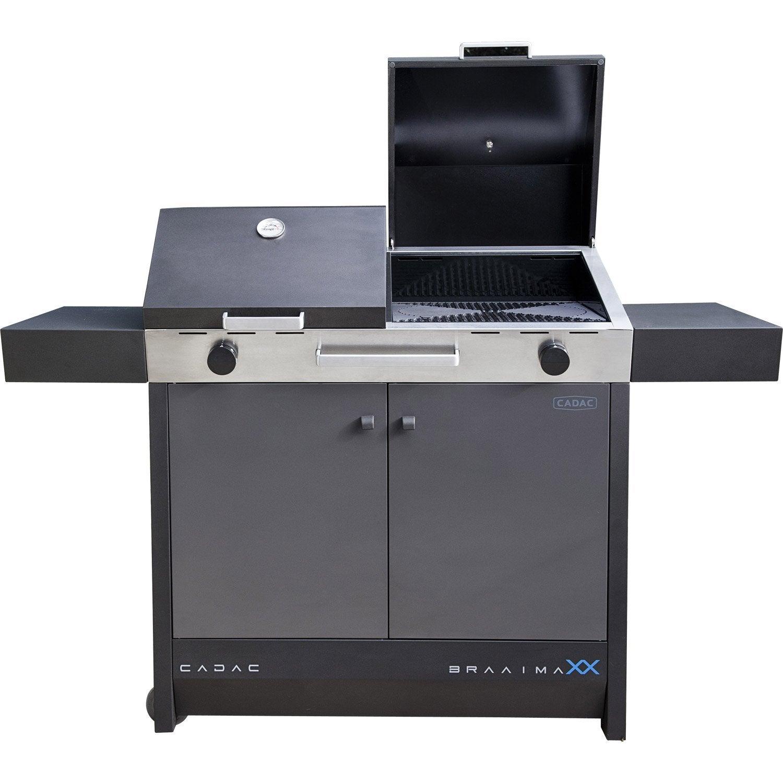 barbecue au gaz braai maxx 2 bruleurs cadac leroy merlin. Black Bedroom Furniture Sets. Home Design Ideas