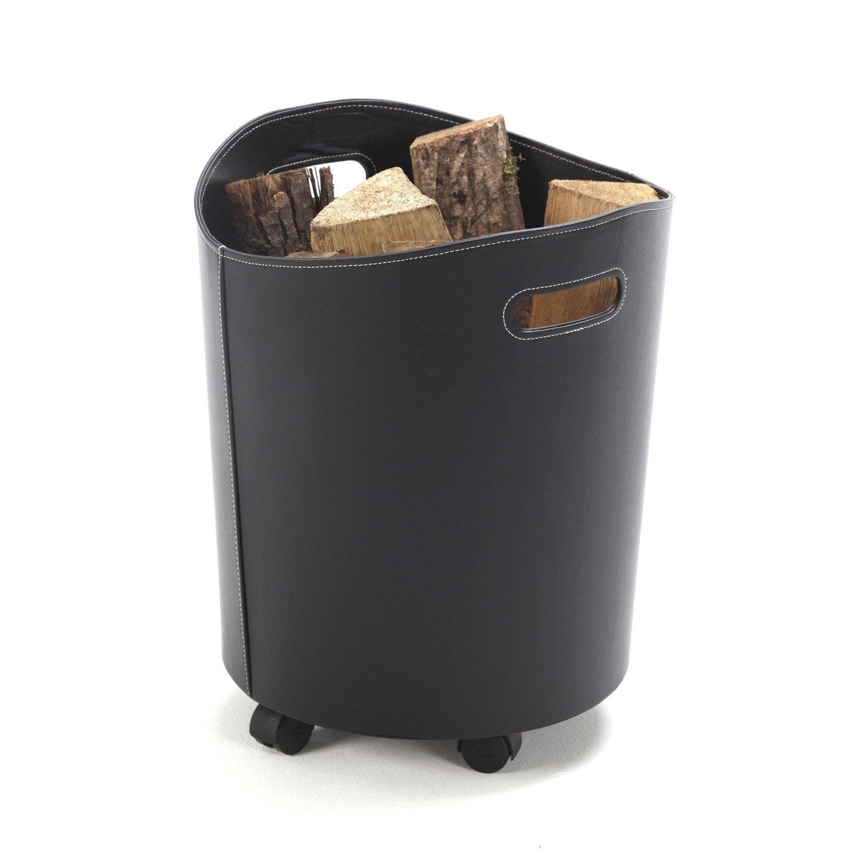 rangement pour granul s simili cuir noir atelier dix neuf. Black Bedroom Furniture Sets. Home Design Ideas