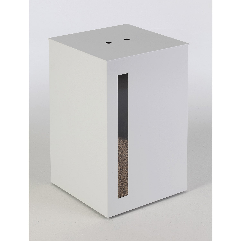 Rangement pour granul s acier blanc atelier dix neuf titan for Pellets leroy merlin
