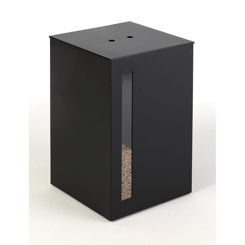 Rangement pour granul s acier noir atelier dix neuf titan cm leroy me - Leroy merlin porte buche ...