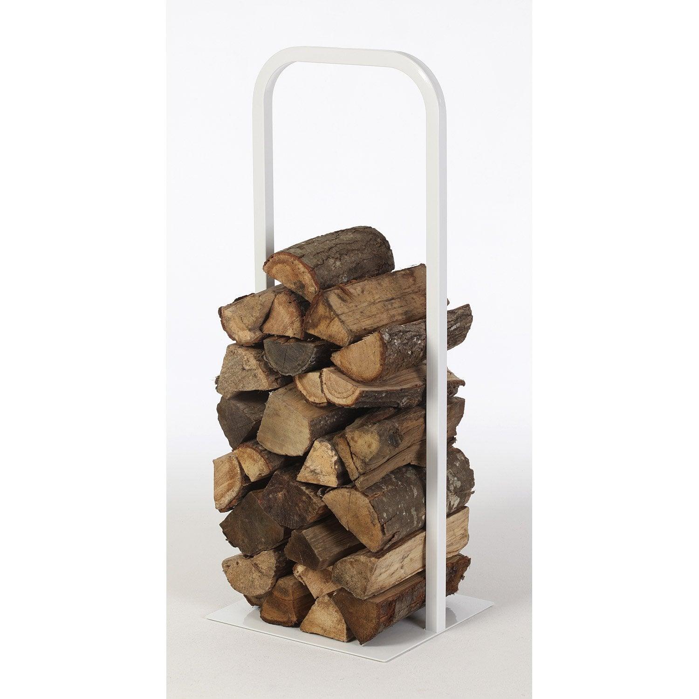 rangement pour bois acier blanc atelier dix neuf cima h. Black Bedroom Furniture Sets. Home Design Ideas