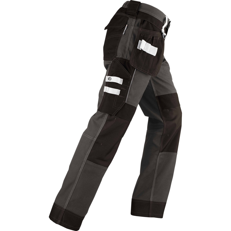 pantalon de travail multipoche redstone vittoria gris noir taille l leroy merlin. Black Bedroom Furniture Sets. Home Design Ideas