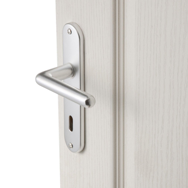 2 poign es de porte aby trou de cl aluminium 165 mm. Black Bedroom Furniture Sets. Home Design Ideas