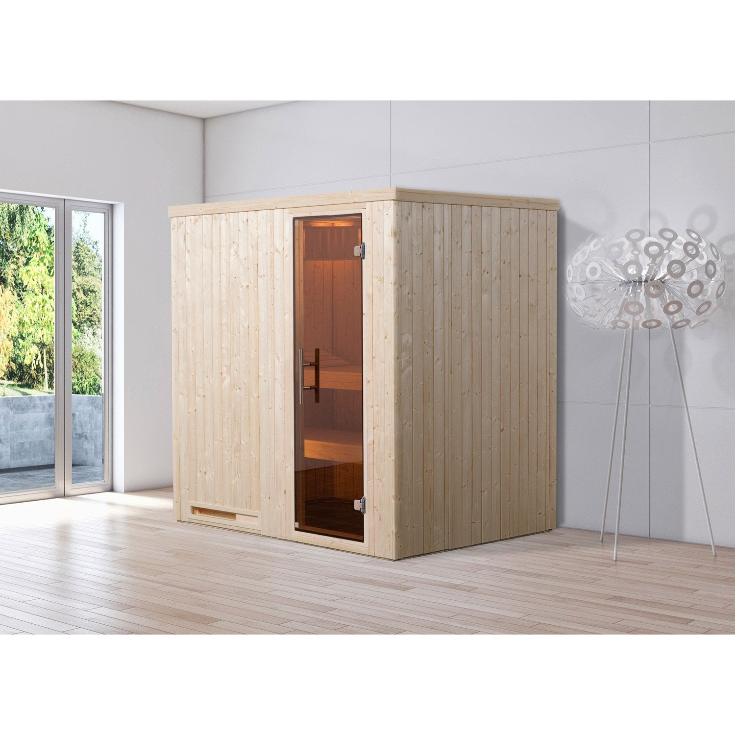 sauna traditionnel 2 places mod le kasala 3 weka livraison incluse leroy merlin. Black Bedroom Furniture Sets. Home Design Ideas