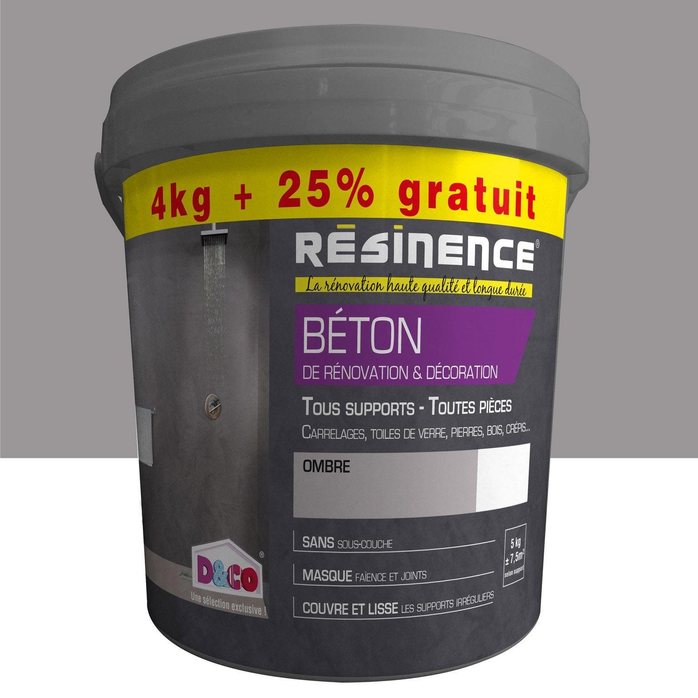 Enduit b ton de r novation et d coration resinence ombr for Enduit beton leroy merlin