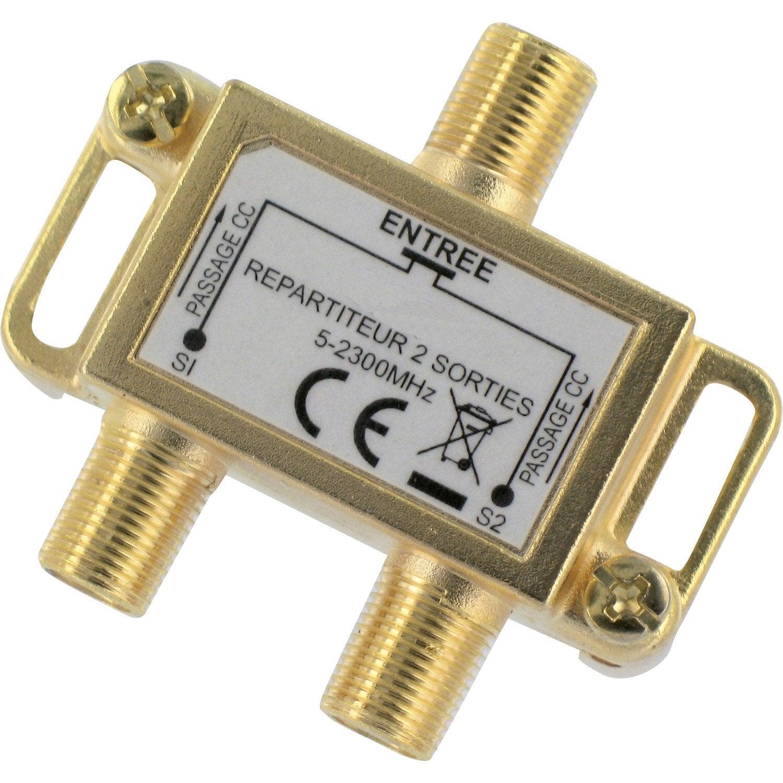 v p produits electricite domotique decodeur antenne tv parabole et connectique repartiteur amplificateur coupleur l