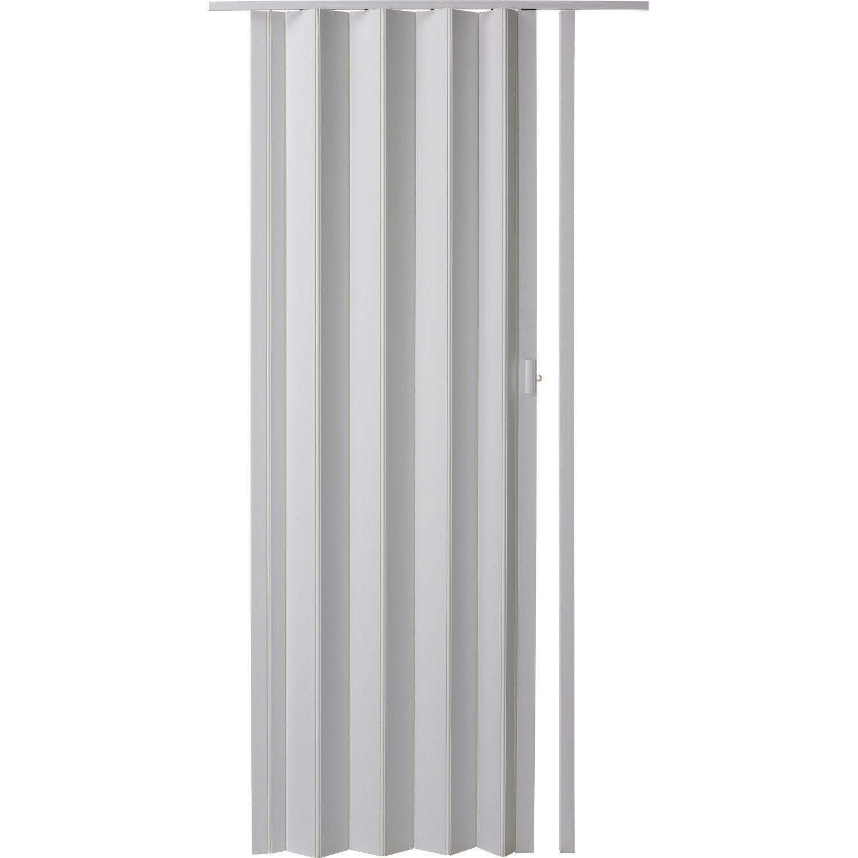 Porte accordéon Rio en Résine de synthèse Blanc, 205 x 85 cm | Leroy Merlin