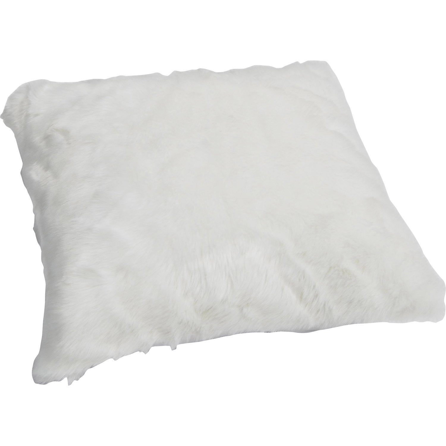 Coussin fausse fourrure lapin blanc x cm leroy merlin - Coussin leroy merlin ...