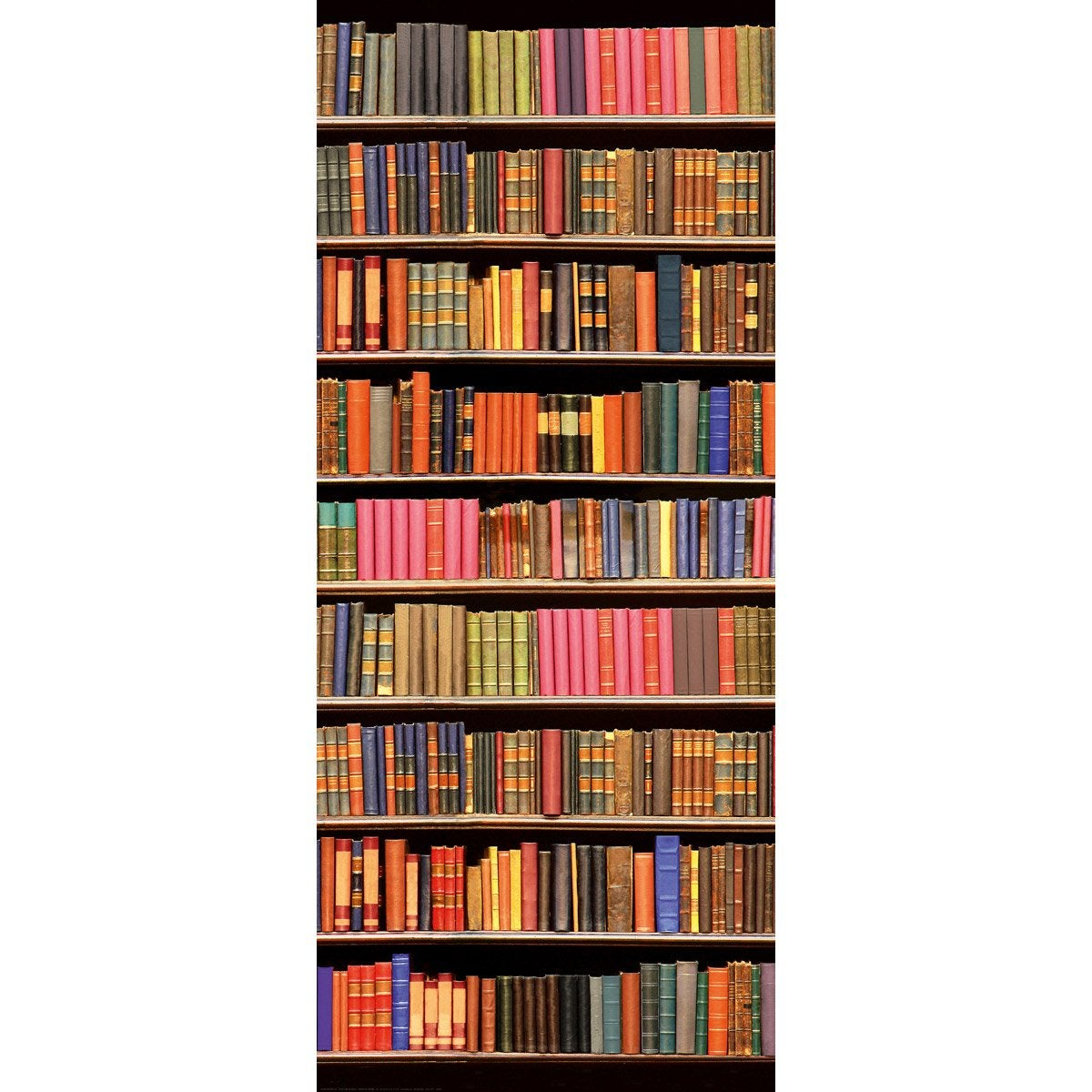 poster de porte library deco door x cm leroy. Black Bedroom Furniture Sets. Home Design Ideas