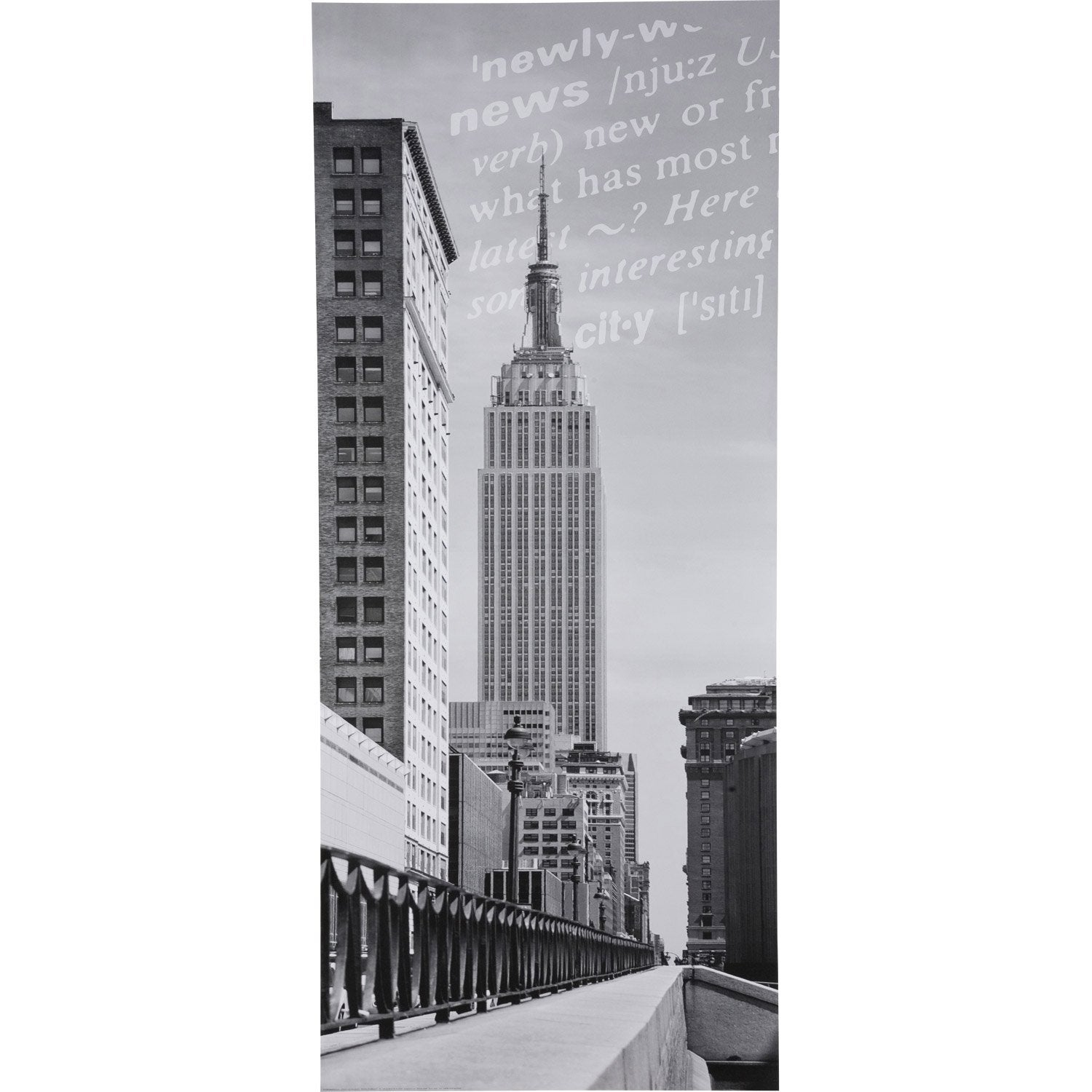 Stickers porte placard coulissante new york