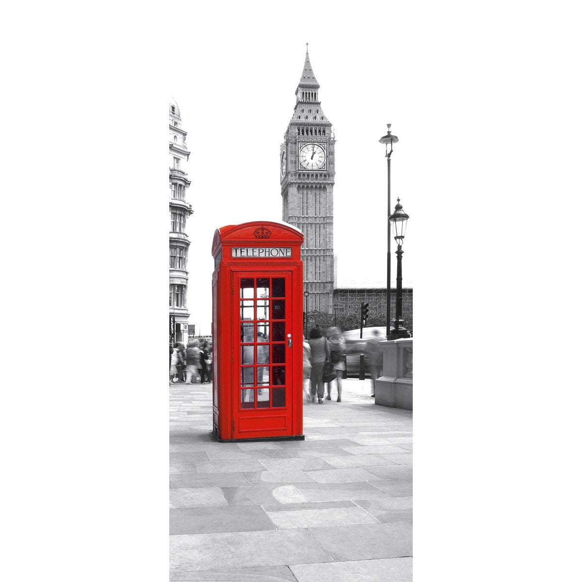 poster de porte calling from big ben 92 x 202 cm leroy. Black Bedroom Furniture Sets. Home Design Ideas