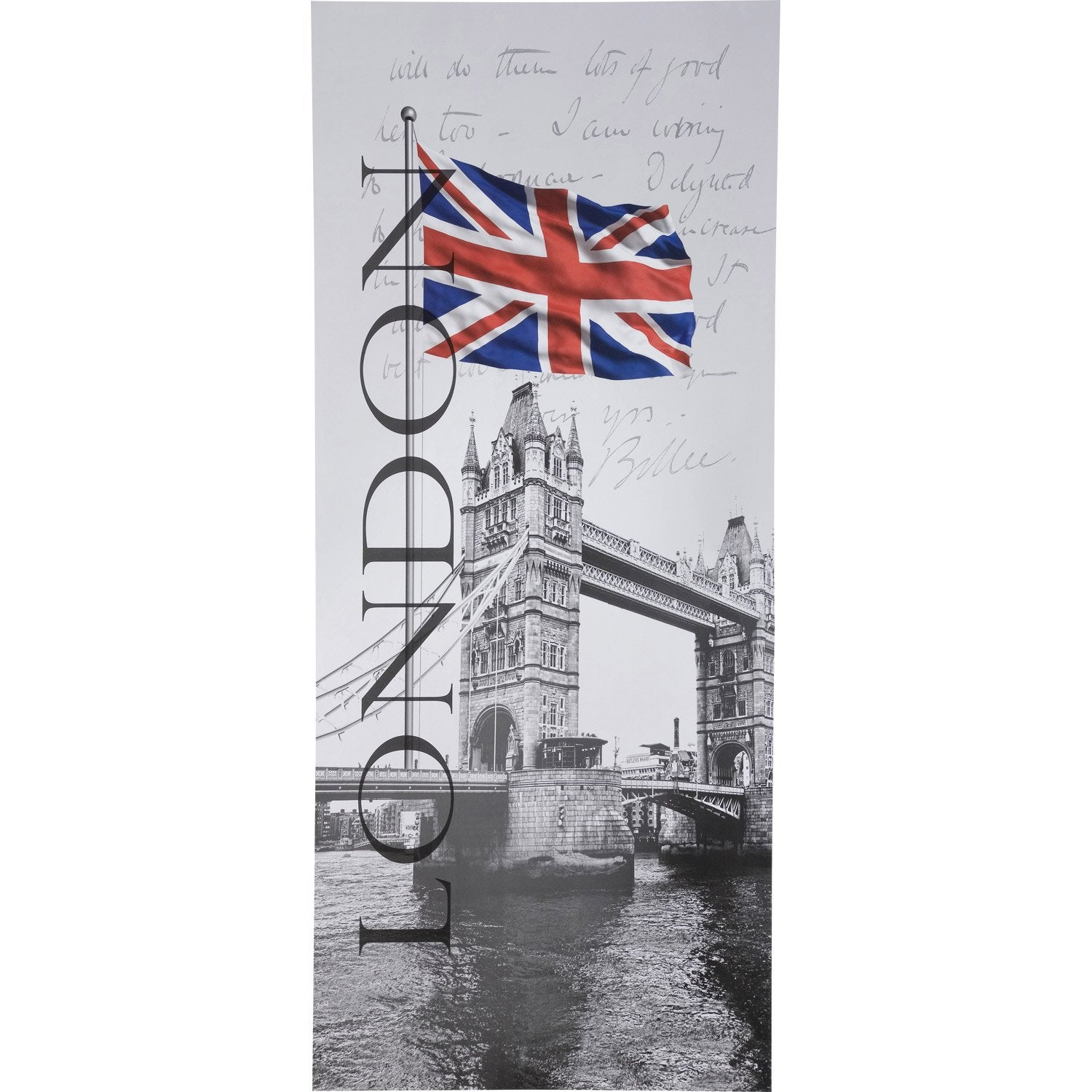 poster de porte very british 92 x 202 cm leroy merlin. Black Bedroom Furniture Sets. Home Design Ideas
