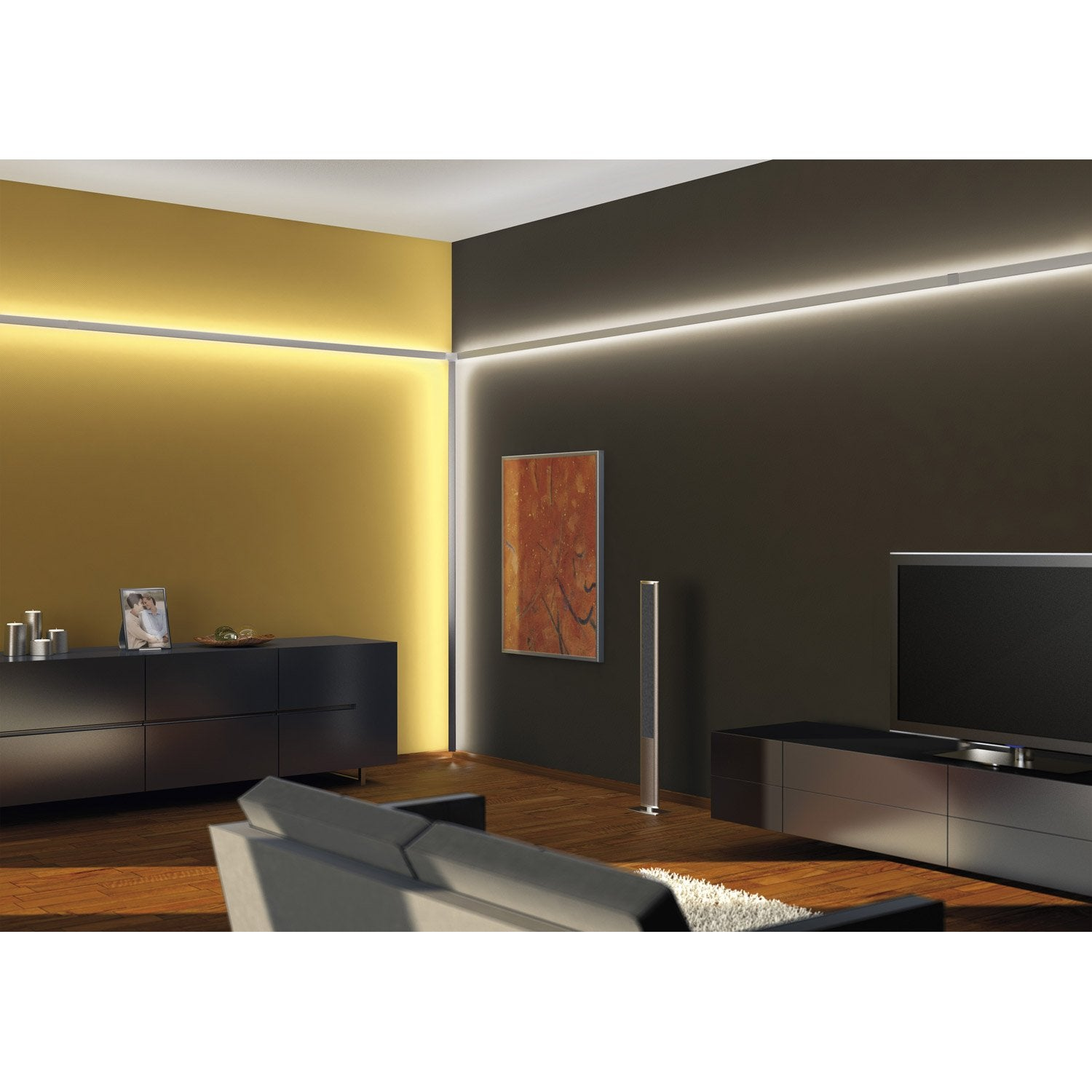 profil pour ruban led duo profil leroy merlin. Black Bedroom Furniture Sets. Home Design Ideas