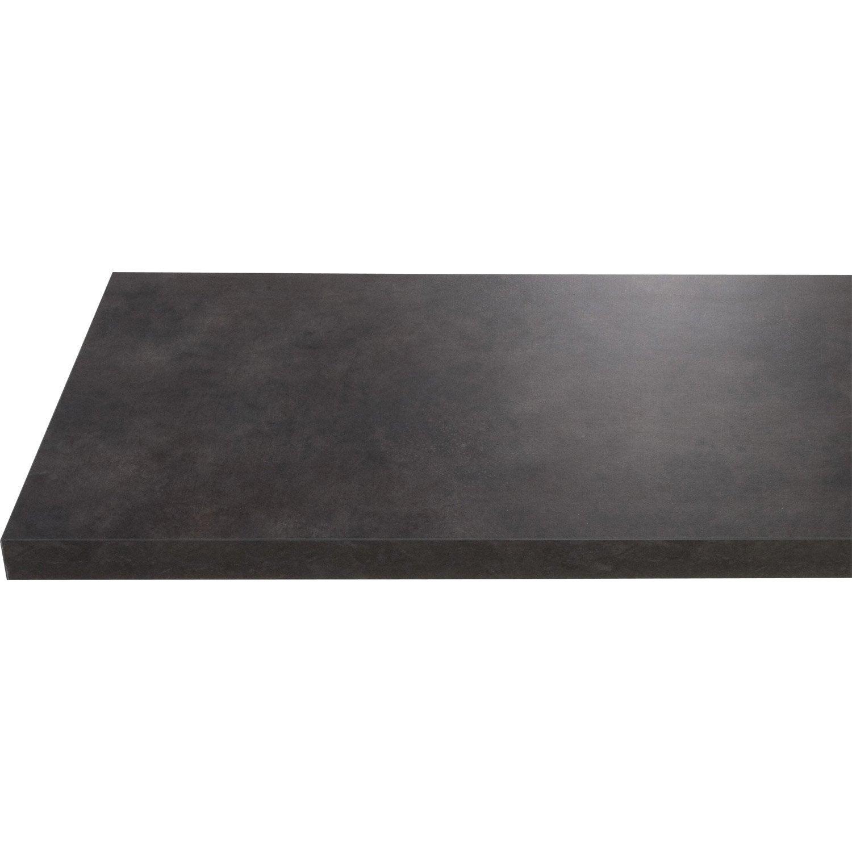 plan de toilette en stratifi imitation m tal vieilli noir 150 x 4 4 x 50cm leroy merlin. Black Bedroom Furniture Sets. Home Design Ideas