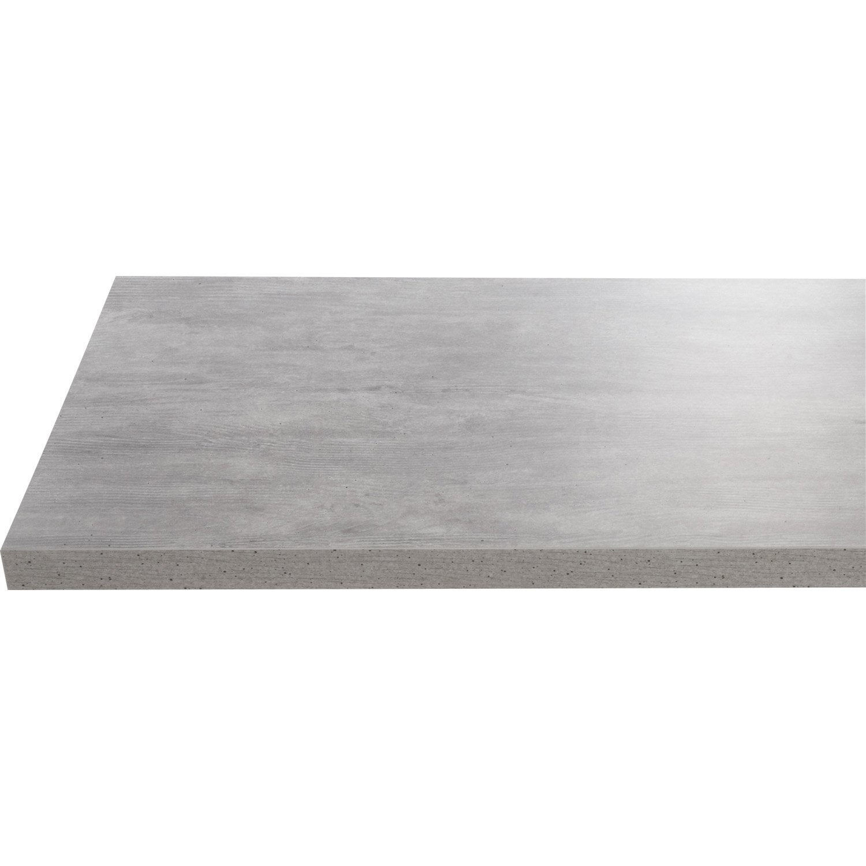 Plan de toilette en stratifi imitation b ton gris argent leroy merlin for Plan de travail imitation beton