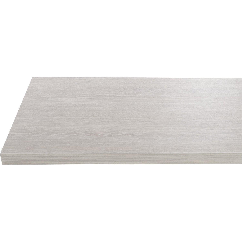 Plan de toilette en stratifi imitation bois blanchi gris argent 150x 50cm leroy merlin - Plan de toilette leroy merlin ...
