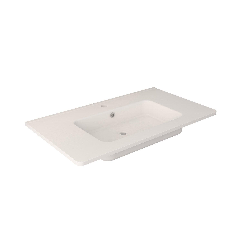 Plan vasque simple nymphe c ramique 81 5 cm leroy merlin for Leroy merlin plan vasque