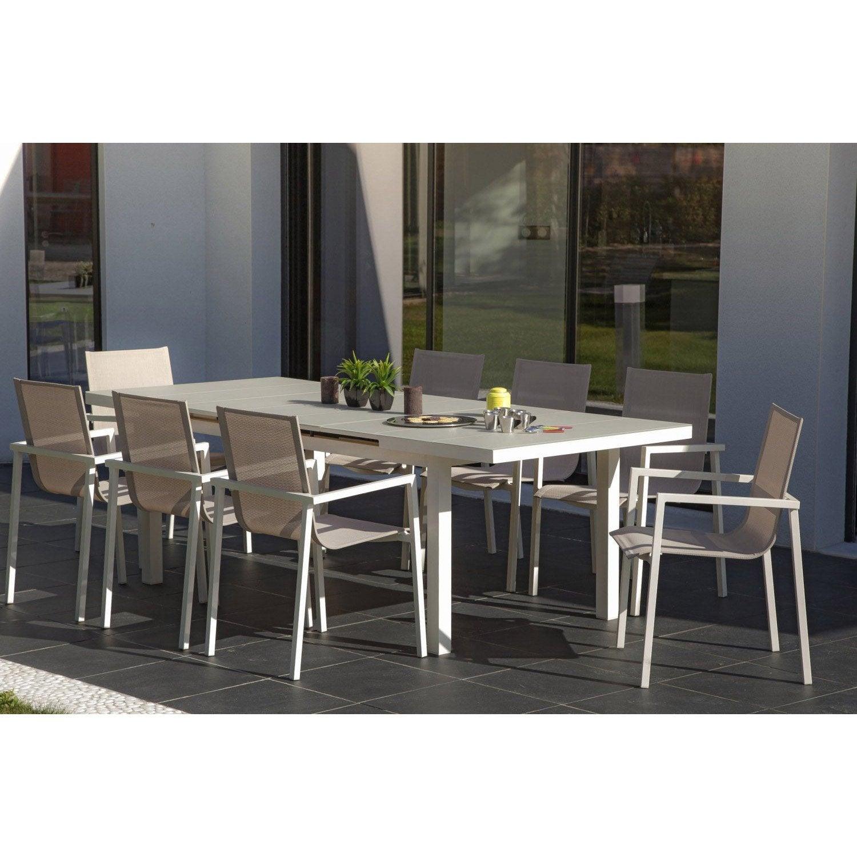 table-de-jardin-malaga-rectangulaire-taupe-6-personnes Meilleur De De Salon De Jardin Resine Leroy Merlin Des Idées