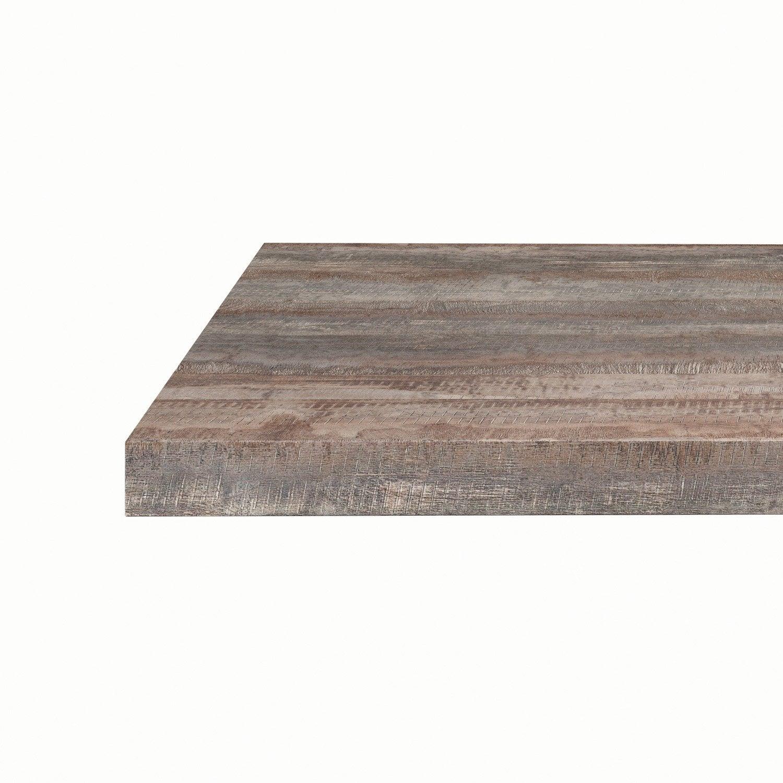 plan snack stratifi vintage wood mat x cm mm leroy merlin. Black Bedroom Furniture Sets. Home Design Ideas