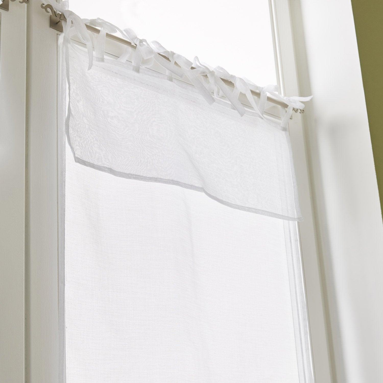 vitrage tamisant nouettes blanc x cm leroy merlin. Black Bedroom Furniture Sets. Home Design Ideas