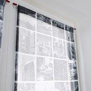Vitrage tamisant City, gris, l.80 x H.160 cm