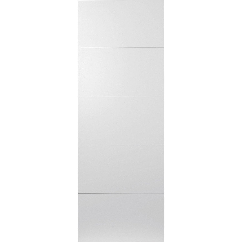 Porte coulissante rev tu blanc alaska artens 204 x 73 cm - Porte coulissante 73 cm castorama ...