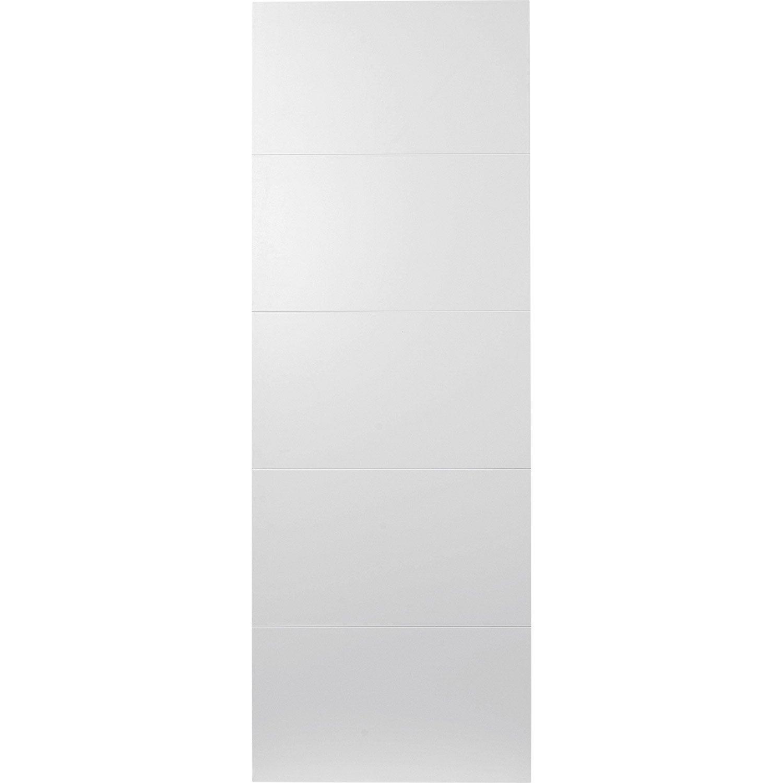 Porte coulissante rev tu blanc alaska artens 204 x 73 cm - Porte a galandage leroy merlin ...