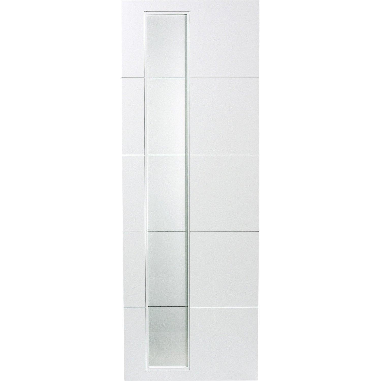 Porte coulissante rev tu blanc alaska artens 204 x 93 cm - Porte coulissante 73 cm castorama ...
