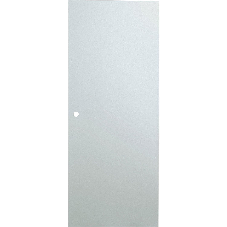 Porte coulissante verre tremp orlando artens 204 x 83 cm - Porte coulissante verre leroy merlin ...
