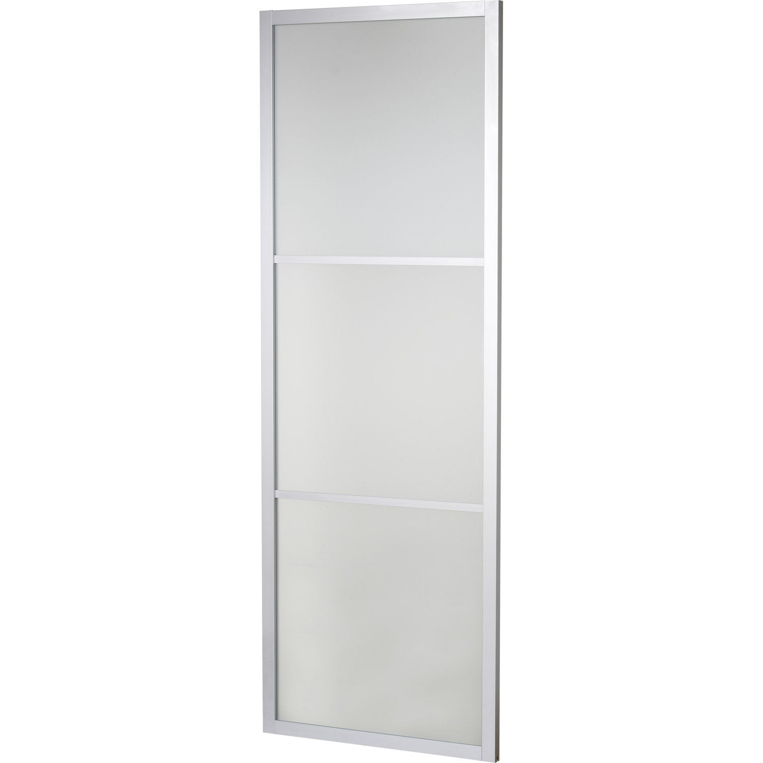 Porte coulissante verre tremp aspen artens 204 x 73 cm for Monter des portes coulissantes