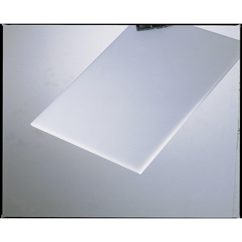 Plaque de verre synth tique lisse opaline polystyr ne 200x100cm p leroy merlin - Verre synthetique leroy merlin ...