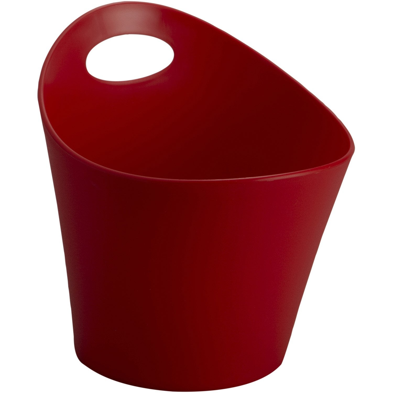 panier en plastique rouge rouge 3 potichelli leroy merlin. Black Bedroom Furniture Sets. Home Design Ideas