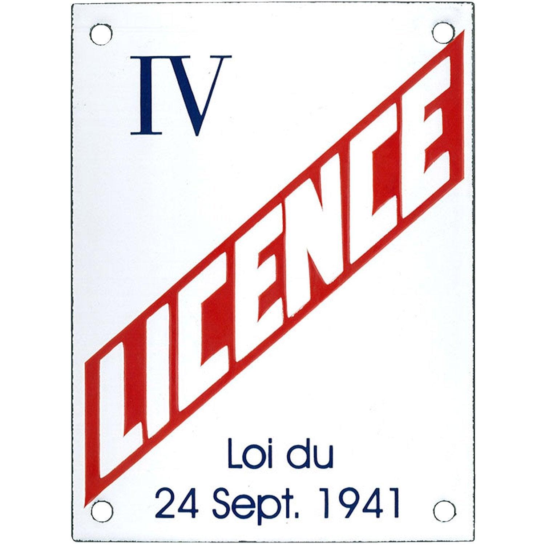 Plaque M 233 Tal Licence Iv L 15 X H 20 Cm Leroy Merlin