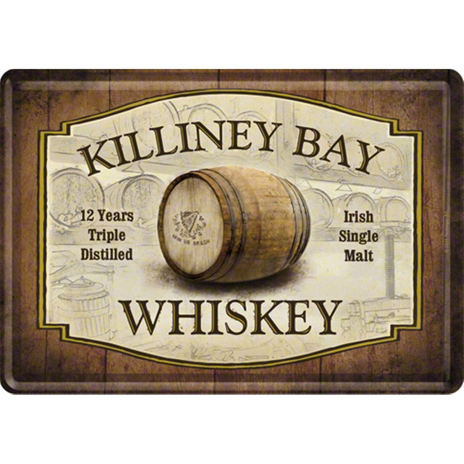 plaque en m tal whiskey 14 x 10 cm leroy merlin. Black Bedroom Furniture Sets. Home Design Ideas