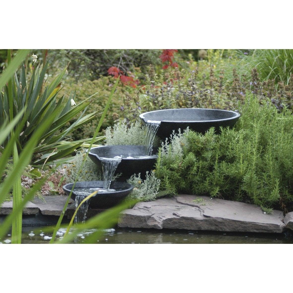 Cascade pour bassin ubbink nova scotia l x l m x for Prix bassin jardin