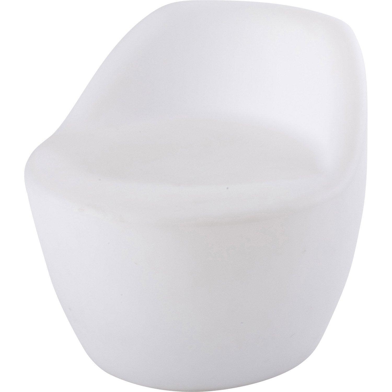 Si ge de d tente de jardin led chair blanc opaque ibiza leroy merlin - Siege leroy merlin ...