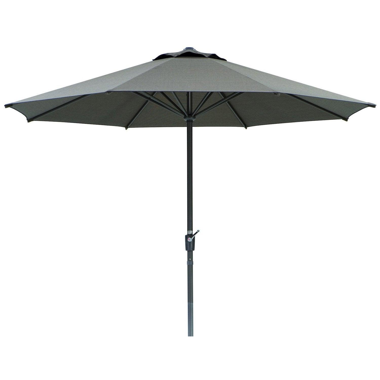 Parasol droit korsika schneider marron tress m - Parasol deporte inclinable leroy merlin ...