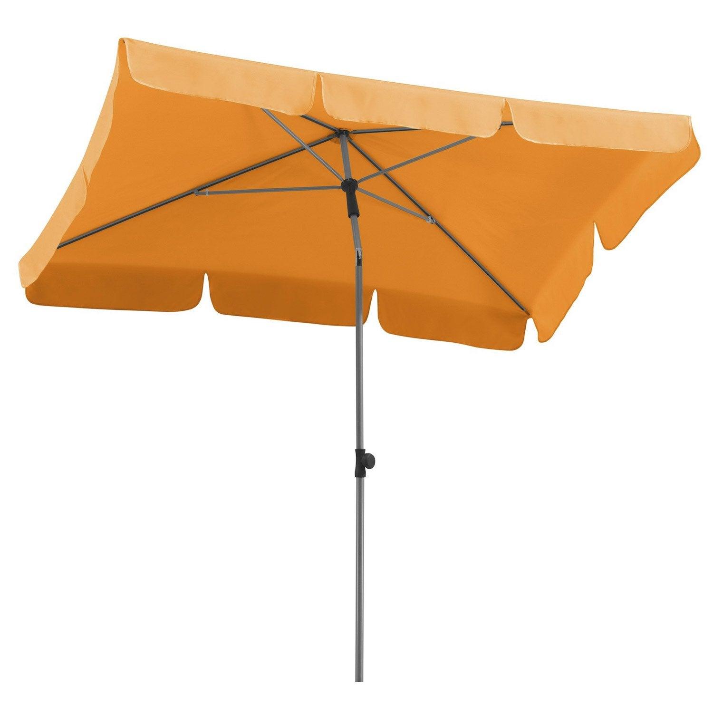 Parasol droit locarno mandarine rectangulaire x cm leroy merlin - Leroy merlin parasol deporte ...
